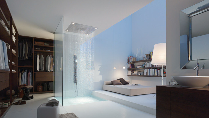The Axor Starck ShowerCollection transforms the shower into a tailor-made spa.